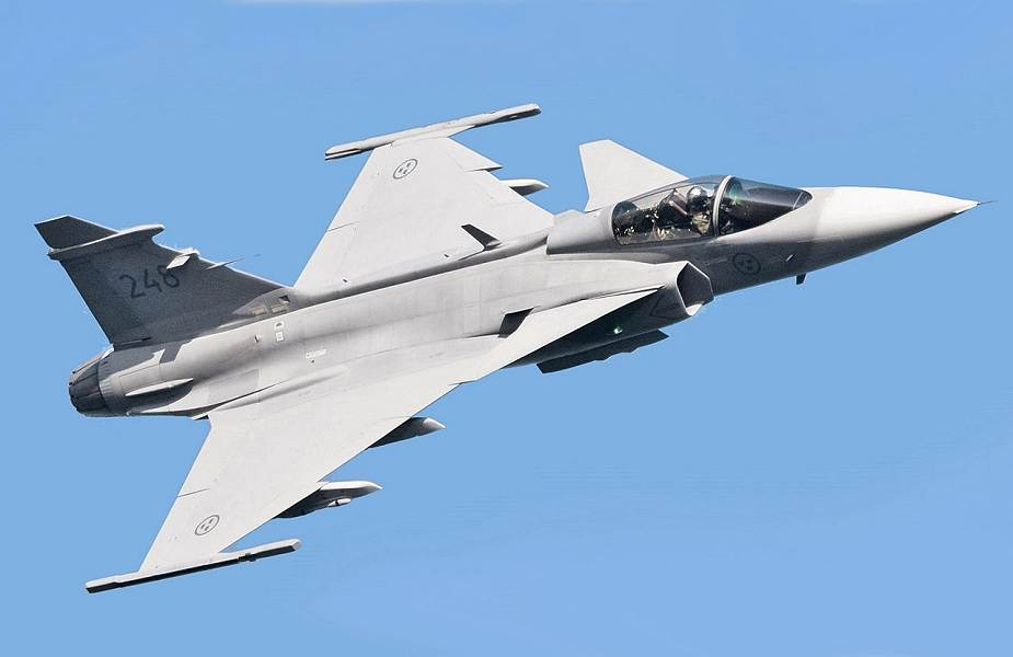 SAAB receives order for future options of Swedish Air Force Gripen C D fighter aircraft 925 001