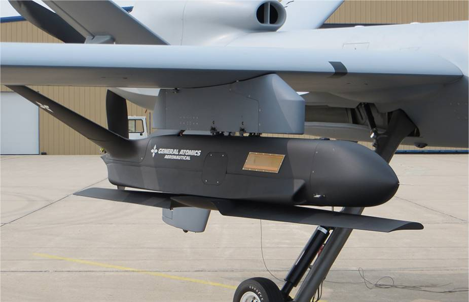 American made MQ 9A drone demonstrates its ability to launch Sparrowhawk Small Unmanned Aircraft Systems 925 001