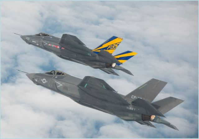 For the first time, two Lockheed Martin [NYSE: LMT] F-35C Lightning II carrier variant test aircraft launched together and conducted formation flying at Naval Air Station Patuxent River, Md., Wednesday.