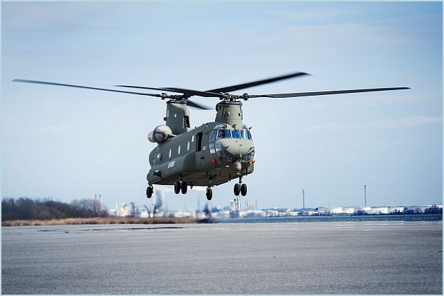 Boeing recently completed the first flight of the newest CH-47 Chinook heavy-lift helicopter for the United Kingdom's Royal Air Force. The March 15 flight, at the Boeing helicopter facility near Philadelphia, happened ahead of schedule and confirmed initial airworthiness for the Mk6 Chinook.