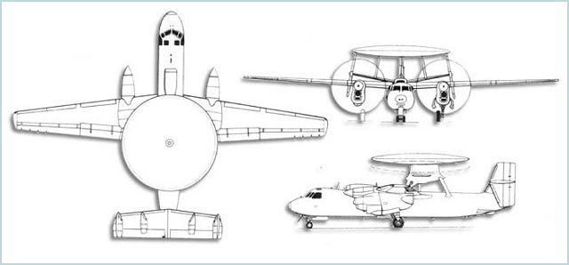 E-2C Hawkeye AEW Airborne Early Warning aircraft technical data sheet specifications intelligence description information identification pictures photos images video Northrop Grumman United States American US USAF Air Force aviation aerospace defence industry military technology
