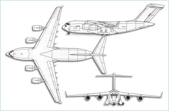 C-17 Globemaster III large military transport aircraft data