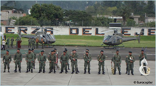 Eurocopter has delivered the first two Ecureuil AS350 B2 of nine helicopters contracted by the Ecuadorian Armed Forces in July 2010 under its extensive modernization program. The two Ecureuil AS350 B2s were delivered to the Army Aviation Brigade at La Balvina, Sangolquí in the presence of the Ecuadorian Defense Minister Javier Ponce, the Head of Armed Forces Joint Command Ernesto González, Army Commander Patricio Cárdenas and various other Ecuadorian military officials and Eurocopter representatives.